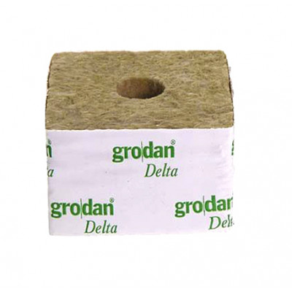 Kamena volna Grodan - 10 x 10 x 6,5 cm - velika luknja