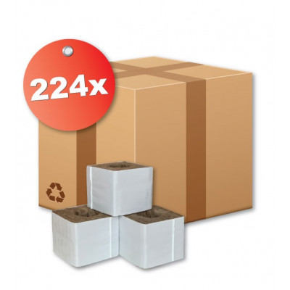 Kamena volna - 7,5 x 7,5 x 6,5 cm - velika luknja - škatla 224 kos